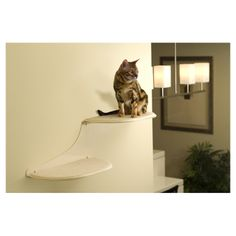 Clouds Cat Perch in Off-White - awesome kitty shelf!