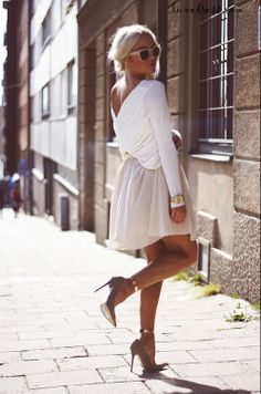 #Summer street style on a #snowy day (a girl can dream) #fashion @TheDBelt