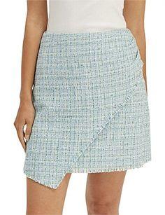Women - Elisa Mini Skirt Plaid Skirts, Mini Skirts, Tweed Fabric, Tartan Plaid, Line Design, Lace Shorts, Size 10, Model, Cotton