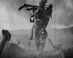 Over a 1000 pipers died during WWI. These extraordinary men were sitting ducks as they went over the top to pipe their men into battle.    One of 10 Telling Images from WW1: http://www.britishpathe.com/gallery/ww1-telling-images