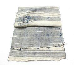 Japanese Artisan Hand Loomed Ikat. Vintage Cotton by FurugiStar