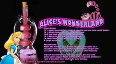 Disney cocktail from Alice in Wonderland