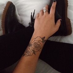 Beautiful rose #tattoo on @ash_kir done by @artvshanti. ❣