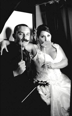 Photo booths are so much fun at weddings. We love seeing the bride and groom hamming it up.