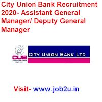 City Union Bank Recruitment 2020 Assistant General Manager