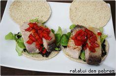 Sanduíche de atum fresco c/compota de pimentos | ratatui dos pobres