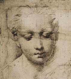 Madonna and Child drawing (detail), Raphael  #raphael #drawing