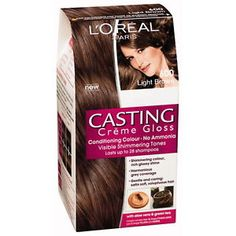 Buy Original & Guaranteed L'Oreal Paris Casting Creme Gloss Hair Color online in Pakistan. This hair color is ammonia free that provides shine and gloss to your hair without any damage or side-effect - Justladies.pk Cosmetic Store of Pakistan. Loreal Casting Creme Gloss, Hair Gloss, Light Brown Hair, Dark Brown, Brown Hair Colors, Hair Colour, L'oréal Paris, Hair Colors, Blond