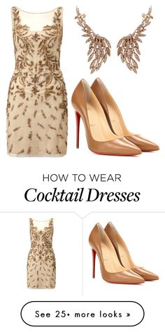 """""""Angel"""" by carlafashion-246 on Polyvore featuring mode, Sutra Jewels, Aidan Mattox et Christian Louboutin"""