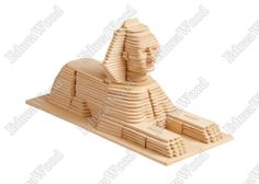 3D Wooden Puzzle - Great Sphinx of Giza Model