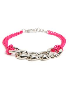 Day Glo Chain Bracelet from Bauble Bar, $24. Comes in orange, purple, aqua/blue, and yellow!