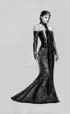 padme -Black Leather Gown by jasonpal on DeviantArt