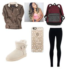 """""""School OOTD:)"""" by purplepoponedirection on Polyvore featuring NIKE, UGG Australia and Casetify"""