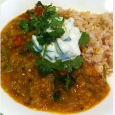Kyra Westwick's Best Dahl Recipe - vegetarian and absolutely delicious! Will be making this very often. Pumpkin Recipes, Vegetable Recipes, Veggie Meals, Vegetarian Recipes, Healthy Recipes, Dahl Recipe, Clean Eating Recipes, Family Meals, Veggies