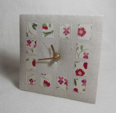 Flower Patches  Desk Clock by themasonbee on Etsy, £85.00