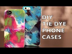 DIY How to Decorate Your Phone Case, Tie Dye With Nail Polish, My Crafts and DIY Projects