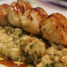 Caramelized Scallops and Risotto