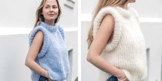 Vi har designet vår helt egen strikkevest. Her finner du oppskriften på sesongens lekreste strikkeplagg, MinMote-vesten. Knitting Patterns, Turtle Neck, Sweaters, How To Make, Design, Hands, Diy, Fashion, Moda