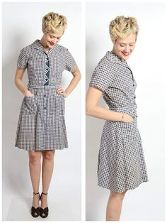 1950s Dress // Spring Clean Dress // vintage by dethrosevintage, $54.00
