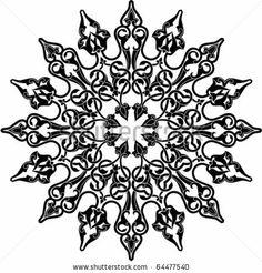 Vector illustration of Arabic circle ornament by Malysh Falko, via Shutterstock