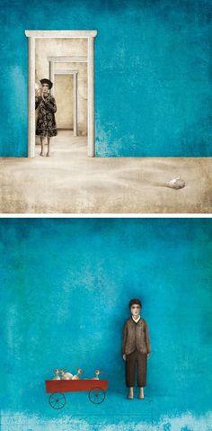 ♪ El artista mexicano Gabriel Pacheco da forma  al dolor y desconcierto del niño abandonado a la soledad.