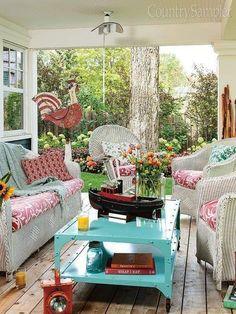 Outdoor Rooms, Outdoor Living, Outdoor Furniture Sets, Outdoor Decor, Porch Furniture, Recycler Diy, Porch Kits, Porch Ideas, Sunroom Ideas