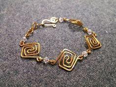 DIY Bijoux  Square bracelet  How to make wire jewelery 232