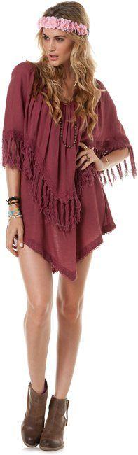 WASHED UP FRINGE DRESS > Vintaged Veneer