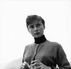 Rare Audrey Hepburn — Audrey Hepburn at a resort inBürgenstock,...