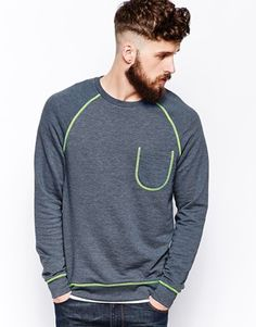ASOS Sweatshirt With Contrast Stitch