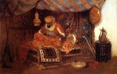 William-Merritt-Chase-The-Moorish-Warrior-Oil-Painting.jpg (563×358)