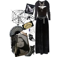 """From beyond the smoke"" by morbid-octobur on Polyvore #goth #gothic #gothstyle�"