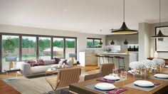 Idea for Open Plan Kitchen Living Room Best Of What are the Pros and Cons Of Open Plan Living Love Living Room And Kitchen Design, Open Plan Kitchen Living Room, Kitchen Dining Living, Open Plan Living, Kitchen Doors, Small Bathroom Renovations, House Siding, Victorian Homes, Furniture Design