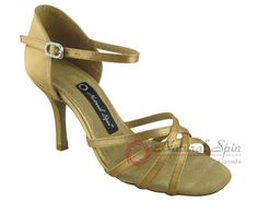 Natural Spin Signature Latin Shoes(Open Toe):  H1104-07a_GoldES
