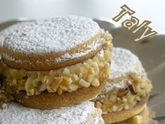 Le Deliziose by Taly Italian Cookies, Italian Desserts, Biscotti Biscuits, Candy Cookies, English Food, Mini Cakes, Doughnut, Cookie Recipes, Sweets