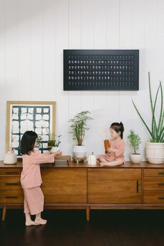 At a Southern California–based blogger's chic home, the smart yet old-timey @vestaboard is the cure for digital overload. Vocabulary Building, Letter Form, Home Goods Decor, Hearth And Home, You Never Know, Message Board, Learning Tools, Saturated Color, New Words
