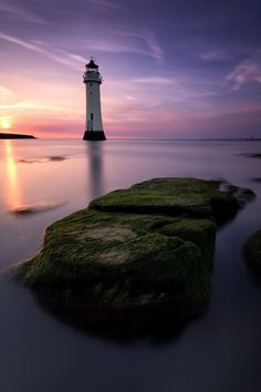 Perch Rock Lighthouse, New Brighton The Wirral Merseyside, United Kingdom  by Phil Buckle
