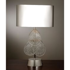 Murano Glass Leaf Table Lamp - Nickel #table #lamp #lighting #home #decor