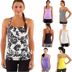 Hot Sell Colorful Lululemon Tops Brand Women's Casual Yoga Tanks Sexy Lady Comfy Lulu Lemon Gym Vest Cheap Sale Tops US $16.80