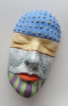 Celebrate the Colors of Life Ceramic Sculpture Mask by Mudgoddess, $165.00
