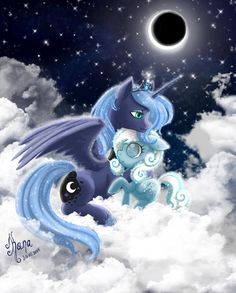 My Little Pony: Luna and Snowdrop by Kanochka I consider snow drop a sister My Little Pony Comic, My Little Pony Pictures, Celestia And Luna, Princess Celestia, Fanart, Little Poni, Nightmare Moon, My Little Pony Friendship, Twilight Sparkle