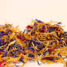 Mixed dried flowers, 100 gr - marigold, cornflower and rose petals
