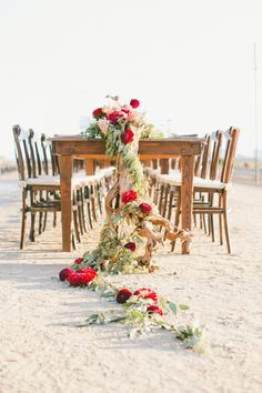 Desert chic: http://www.stylemepretty.com/2015/05/07/35-gorgeous-cascading-centerpieces/