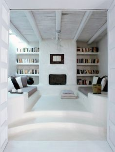 Aegean Fireplace by  ZEGE ARCHITECTS
