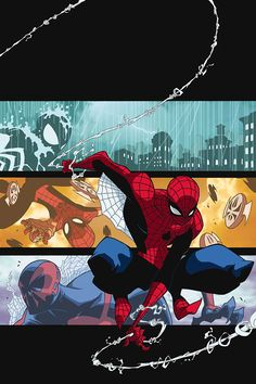 Spider-Man Family by Skottie Young