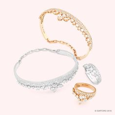 #FLORA collection #bangle #ring #rosegold #whitegold #diamond #sartoro…