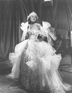 A dream walking - Irene Dunne    Looking like a fairy-tale princess in a design by Travis Banton for High, Wide and Handsome in 1937
