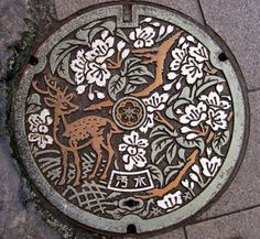 Manhole cover in Nara City, Japan, which is famous for its deer (via Carol Shepko)