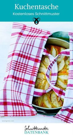 Kuchentasche Tasche für Kuchen Ideen für den Haushalt Nähen für die Küche kostenloses Schnittmuster Geschirrhandtücher
