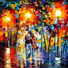 Oil Painting Art: Introduction to Oil Painting Techniques Love Painting, Oil Painting On Canvas, Knife Painting, Rain Painting, Painting Abstract, Painting Tips, Canvas Art, Cool Paintings, Beautiful Paintings